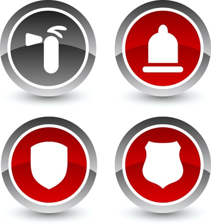 safety icon: Safety icon set. Vector illustration.