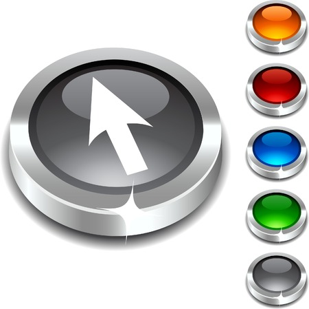 Cursor  3d button set. illustration. Stock Vector - 5934314