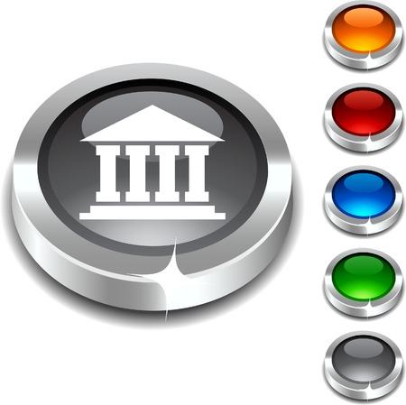 Exchange 3d button set. Vector illustration. Stock Vector - 5952786