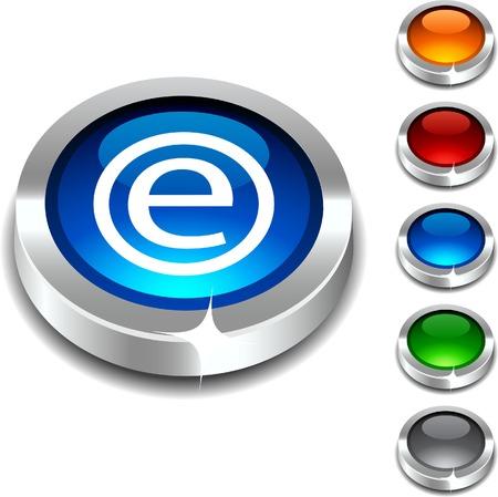 Enternet  3d button set. Vector illustration.  Stock Vector - 5952829