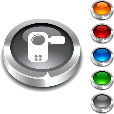 Video  3d button set. Vector illustration. Stock Vector - 5952867