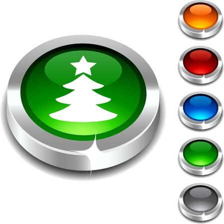 Eve  3d button set. Vector illustration. Stock Vector - 5952873
