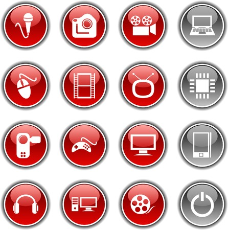 Multimedia  button set. Vector illustration. Stock Vector - 5952862