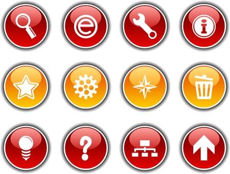 web  button set. Vector illustration. Stock Vector - 5952840