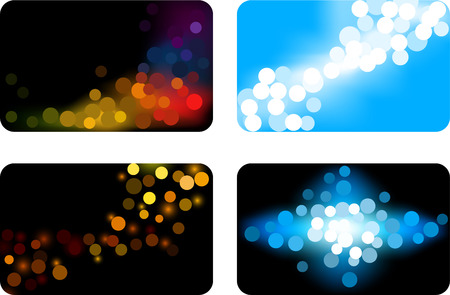 business focus: Collection of backgrounds. Vector illustration.