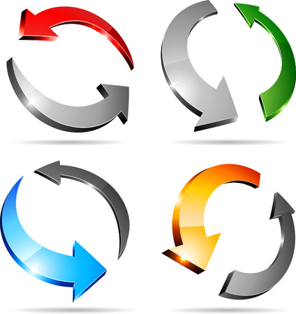 Conjunto de flechas. Ilustración vectorial.