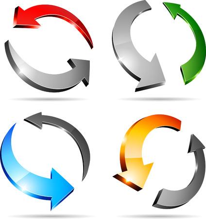 refrescarse: Conjunto de flechas. Ilustración vectorial.