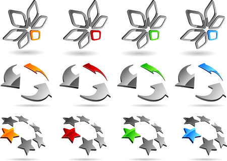 Set of abstract elements. Vector illustration. Stock Vector - 5952865