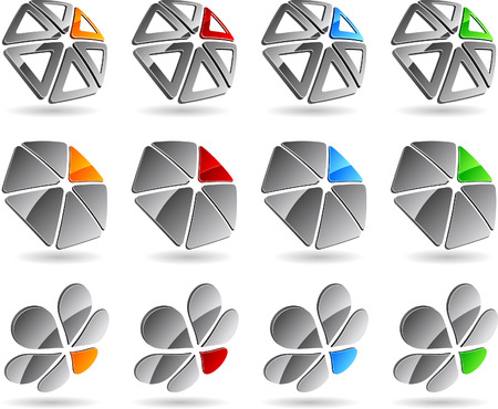 group icon: Set of abstract elements. Vector illustration.
