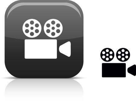 camera film:  Cinema beautiful icon. Vector illustration.