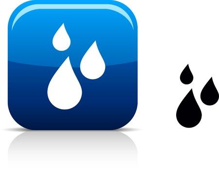 reflejo en el agua: Hermoso icono de la lluvia.