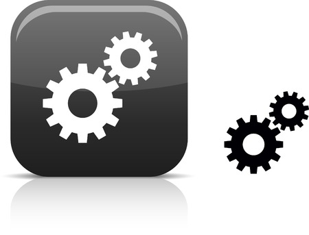 settings: Instellingen mooie icon.  Stock Illustratie