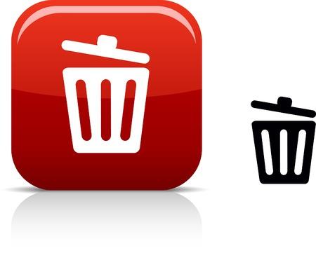 delete:  Recycle bin. beautiful icon.