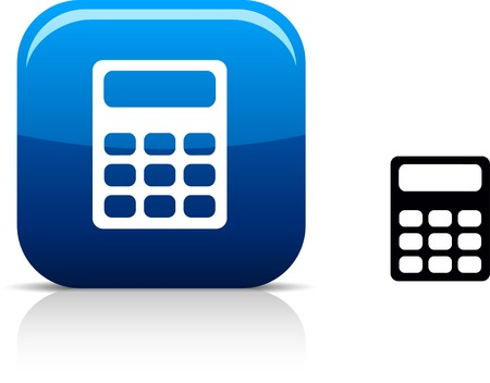 calculate: Calculate  beautiful icon. Illustration