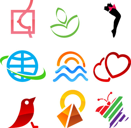 bosom: Conjunto de elementos colores. Vectores