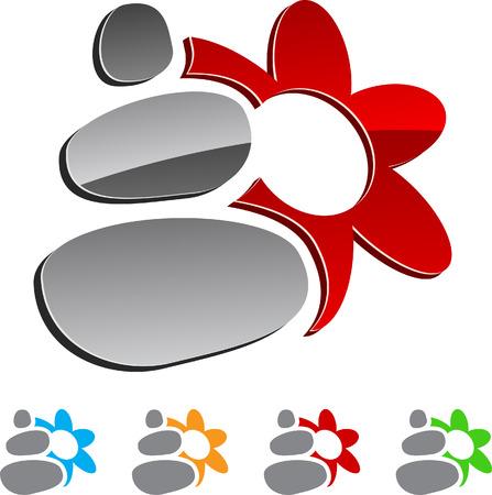 rock logo: Conjunto de elementos de spa.  Vectores