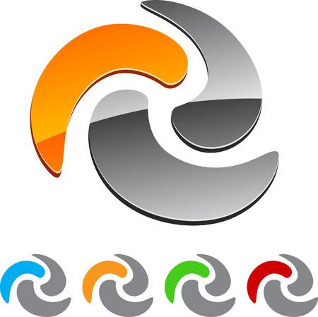 Set of Swirl elements. Vector illustration. Stock Vector - 5997119