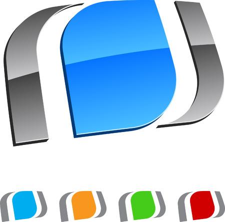 logo informatique: Collecte des éléments des yeux. Vector illustration.