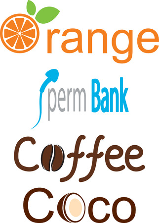 coffee company: Collection of Abstract elements. Vector illustration.