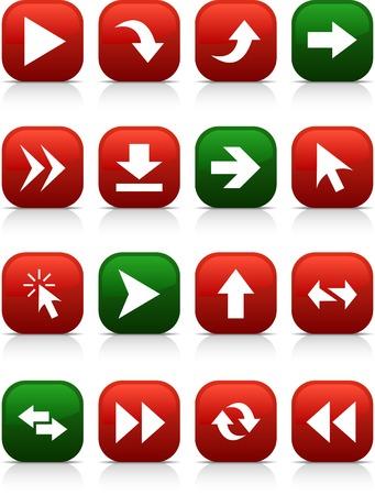 Arrows  button set. Vector illustration.  Stock Vector - 5997131