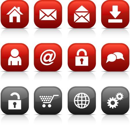 mail man:  conjunto de botones de Web. Ilustraci�n vectorial. Vectores