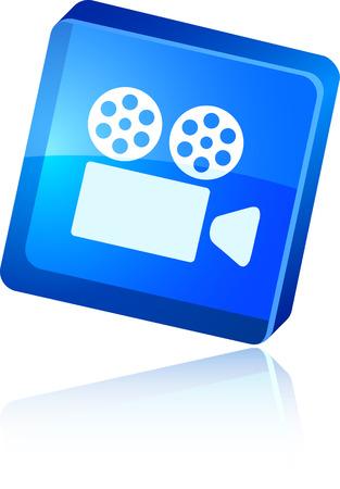 Cinema   beautiful icon. Vector illustration. Reklamní fotografie - 5997190