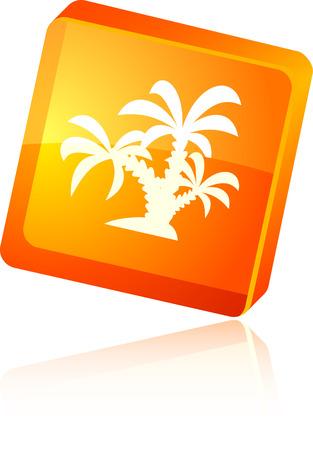 tropical  beautiful icon. Vector illustration. Stock Vector - 5997177