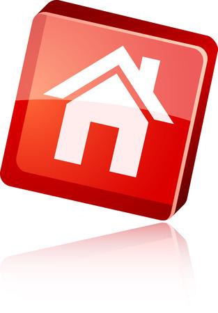 Home  beautiful icon. Vector illustration.  Stock Vector - 6007327