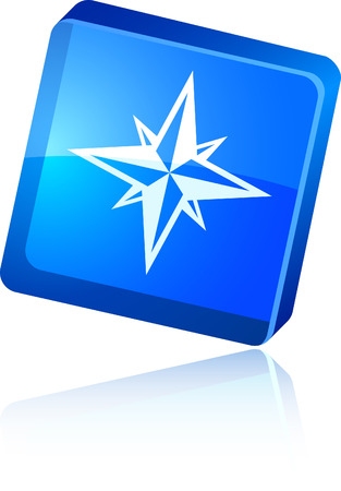 Compass  beautiful icon. Vector illustration. Stock Vector - 6015775