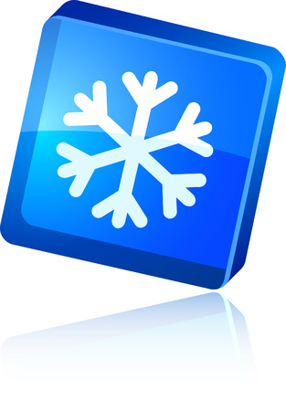 Snowflake beautiful icon. Vector illustration. Stock Vector - 6020837