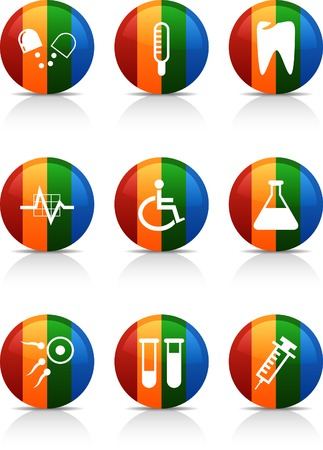 Medical   button set. Vector illustration.  Vector