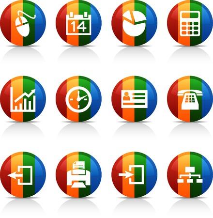 Office   button set. Vector illustration.  Vector