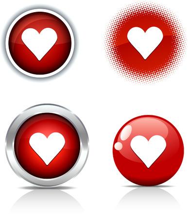 vector  love: Love beautiful buttons. Vector illustration.  Illustration