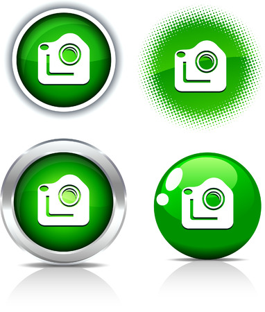 Photo beautiful buttons. Vector illustration.  Stock Vector - 6051733