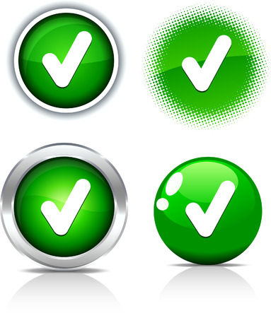 Compruebe los botones hermoso. Ilustración vectorial. Ilustración de vector