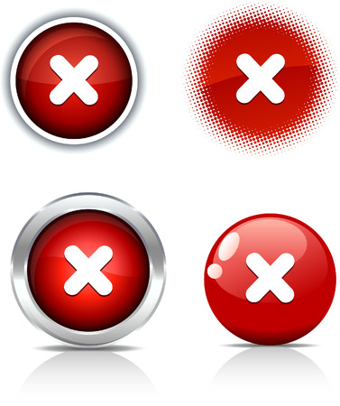 Cross beautiful buttons. Vector illustration. Stock Vector - 6051729