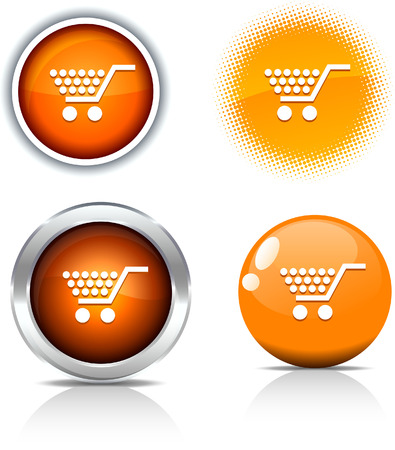 Shopping beautiful buttons. Vector illustration. Stock Vector - 6051753