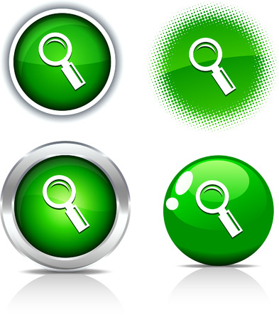 metall and glass:   Searching beautiful buttons. Vector illustration.