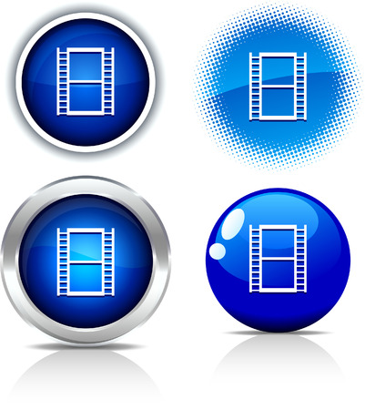 Cinema beautiful buttons. Vector illustration. Stock Vector - 6051754