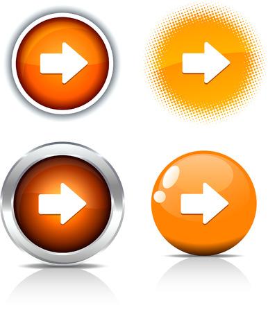 metall:   Arrow beautiful buttons. Vector illustration.