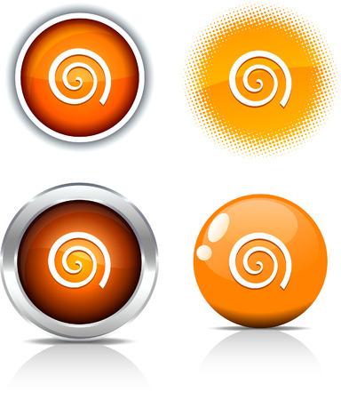 Swirl beautiful buttons. Vector illustration. Stock Vector - 6056715