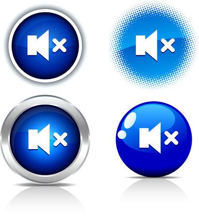 mute:   Mute beautiful buttons. Vector illustration. Illustration