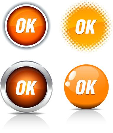 Ok beautiful buttons. Vector illustration. Stock Vector - 6056800