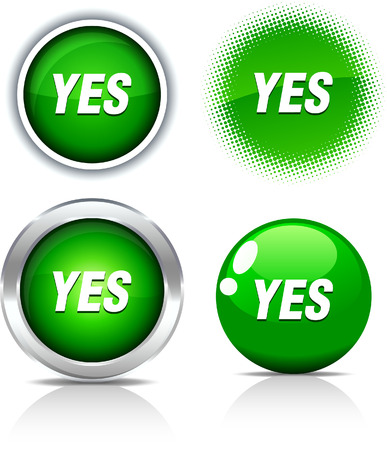 Yes beautiful buttons. Vector illustration. Stock Vector - 6056860