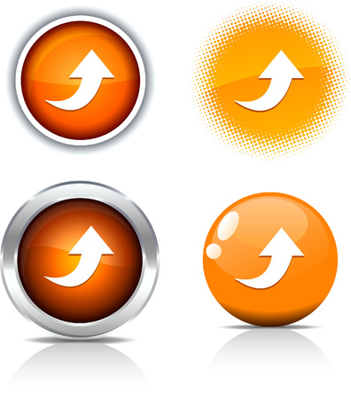 Upload beautiful buttons. Vector illustration. Stock Vector - 6056794