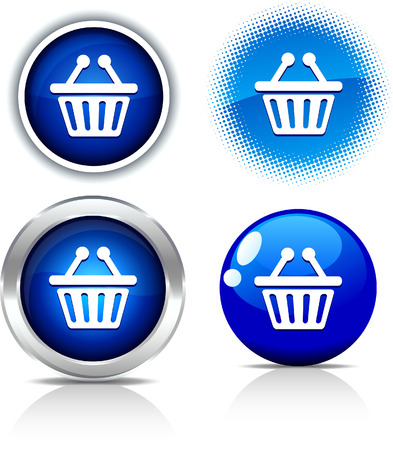 Shopping beautiful buttons. Vector illustration. Stock Vector - 6071043