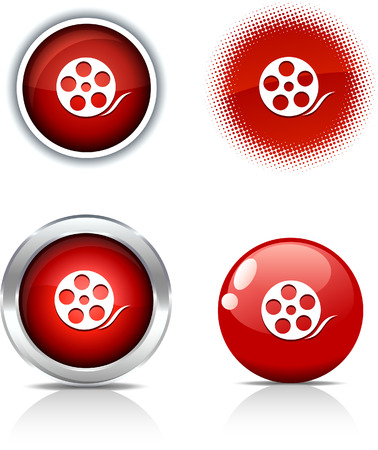 Media beautiful buttons. Vector illustration.  Stock Vector - 6071028