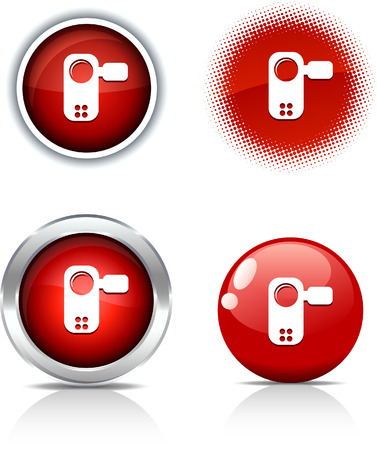 Video beautiful buttons. Vector illustration.  Stock Vector - 6071029