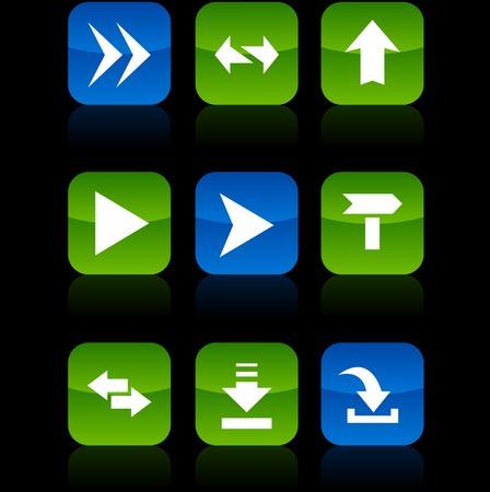 Arrows button set. Vector illustration. Stock Vector - 6071046