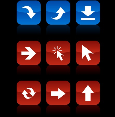Arrows button set. Vector illustration.  Vector